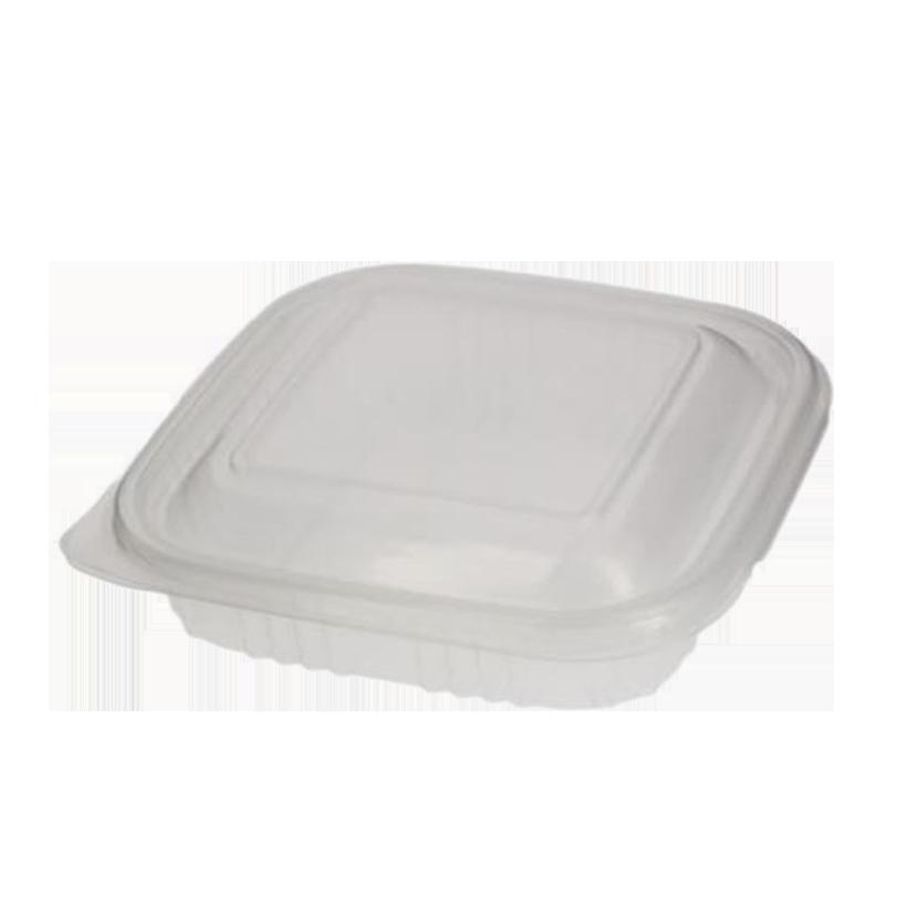 Envase bisagra tapa alta cuadrado 250ml