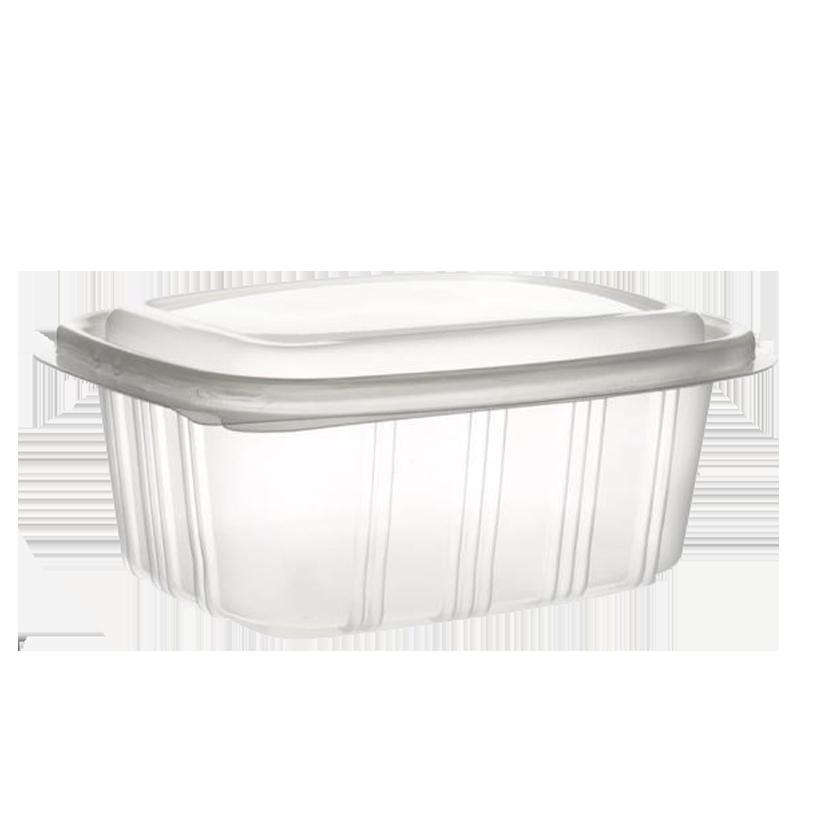 Envase bisagra tapa alta rectangular 250 - 1000ml